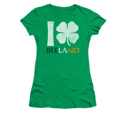 Image for Saint Patricks Day Girls T-Shirt - I Love Ireland