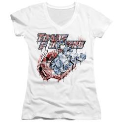 Image for Transformers Girls V Neck T-Shirt - Spray Panels