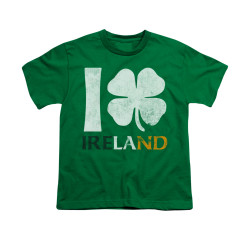 Image for Saint Patricks Day Youth T-Shirt - I Love Ireland