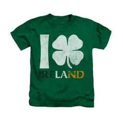 Image for Saint Patricks Day Kids T-Shirt - I Love Ireland