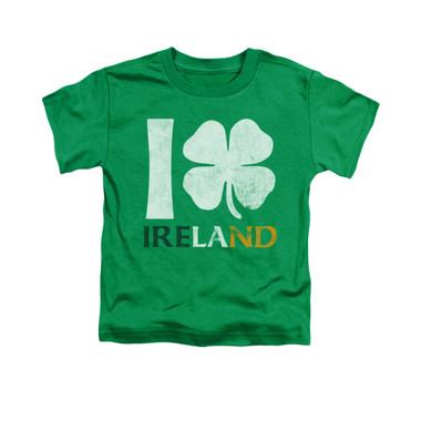 Image for Saint Patricks Day Toddler T-Shirt - I Love Ireland