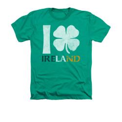 Image for Saint Patricks Day Heather T-Shirt - I Love Ireland