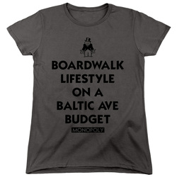 Image for Monopoly Woman's T-Shirt - Lifestyle vs Budget