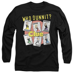 Image for Clue Long Sleeve T-Shirt - Who Dunnit