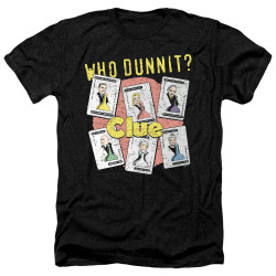 Image for Clue Heather T-Shirt - Who Dunnit