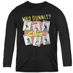 Image for Clue Women's Long Sleeve T-Shirt - Who Dunnit