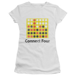 Image for Connect Four Girls T-Shirt - Classic Logo Distressed