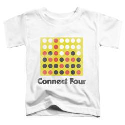 Image for Connect Four Toddler T-Shirt - Classic Logo Distressed