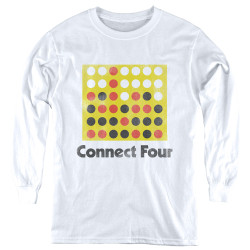 Image for Connect Four Youth Long Sleeve T-Shirt - Classic Logo Distressed