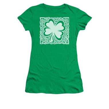 Image for Saint Patricks Day Girls T-Shirt - Celtic Clover