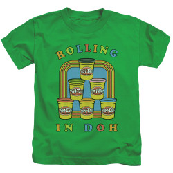 Image for Play Doh Kids T-Shirt - Rolling in Doh
