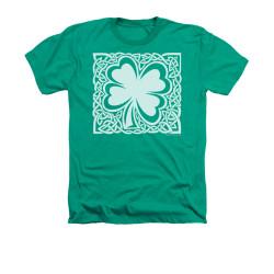 Image for Saint Patricks Day Heather T-Shirt - Celtic Clover