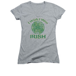 Image for Saint Patricks Day Girls V Neck T-Shirt - Irish Wish