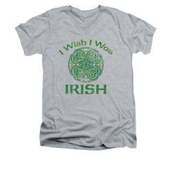 Image for Saint Patricks Day V-Neck T-Shirt Irish Wish