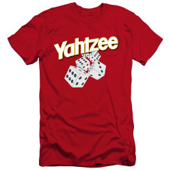 Image for Yahtzee Premium Canvas Premium Shirt - Tumbling Dice