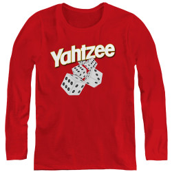 Image for Yahtzee Women's Long Sleeve T-Shirt - Tumbling Dice