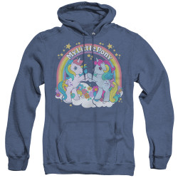 Image for My Little Pony Heather Hoodie - Retro Unicorn Fist Bump