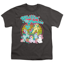 Image for My Little Pony Youth T-Shirt - Retro Chillin' With My Ponies
