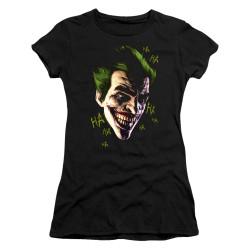 Image for Batman Girls T-Shirt - Joker Grim