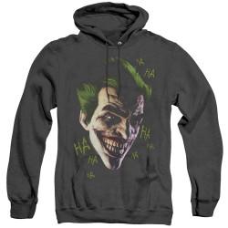 Image for Batman Heather Hoodie - Joker Grim