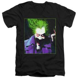 Image for Batman T-Shirt - V Neck - Joker Arkham Asylum