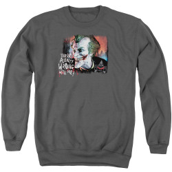 Image for Batman Crewneck - Joker Arkham City Plenty Wrong