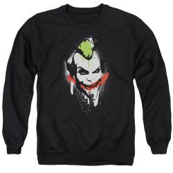 Image for Batman Crewneck - Joker Arkham City Spraypaint Smile