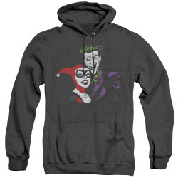 Image for Batman Heather Hoodie - Joker & Harley