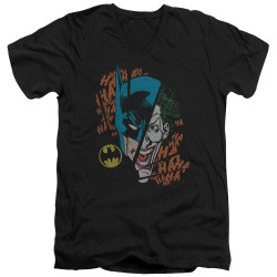 Image for Batman T-Shirt - V Neck - Joker Broken Visage