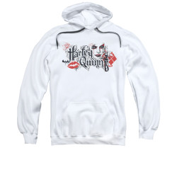 Image for Batman Arkham Knight Hoodie - Harley Quinn Lips