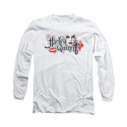 Image for Batman Arkham Knight Long Sleeve T-Shirt - Harley Quinn Lips