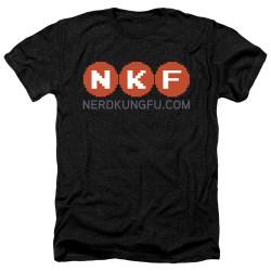 Image for Nerd Kung Fu Heather T-Shirt - Logo