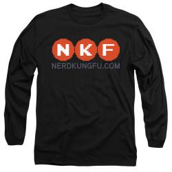 Image for Nerd Kung Fu Youth Long Sleeve T-Shirt - Logo