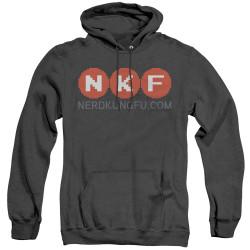Image for Nerd Kung Fu Heather Hoodie - Logo