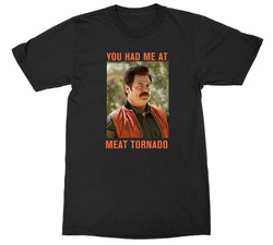 Image for Parks & Rec Ron Swanson You Had Me At Meat Tornado T-Shirt