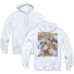 Image for Friends Zip Up Back Print Hoodie - Life's a Beach