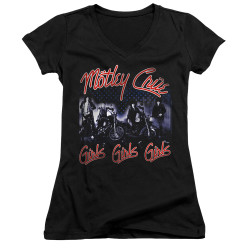 Image for Motley Crue Girls V Neck T-Shirt - Girls