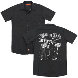 Image for Motley Crue Dickies Work Shirt - Band Photo
