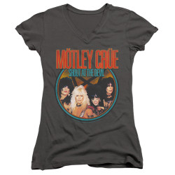 Image for Motley Crue Girls V Neck T-Shirt - Crue Shout