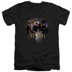 Image for Farscape V Neck T-Shirt - Cast