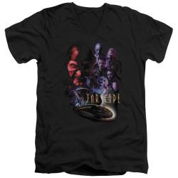 Image for Farscape V Neck T-Shirt - Criminally Epic