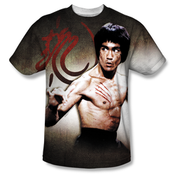 Image for Bruce Lee Sublimated T-Shirt - Scratched 100% Polyester