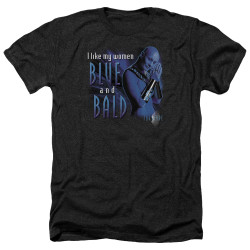 Image for Farscape Heather T-Shirt - Blue and Bald