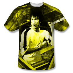Image for Bruce Lee Sublimated T-Shirt - Stripes 100% Polyester