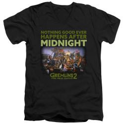 Image for Gremlins V Neck T-Shirt - Gremlins 2 After Midnight