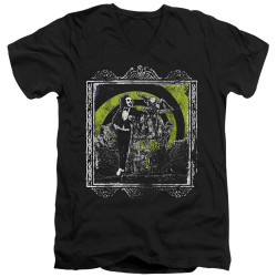 Image for Beetlejuice V Neck T-Shirt - Here Lies