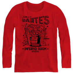 Image for Beetlejuice Women's Long Sleeve T-Shirt - Dante's Inferno Room