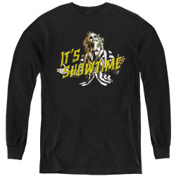 Image for Beetlejuice Youth Long Sleeve T-Shirt - Showtime
