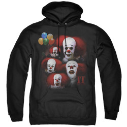 Image for It Hoodie - 1990 Many Faces of Pennywise