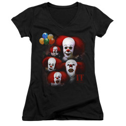 Image for It Girls V Neck - 1990 Many Faces of Pennywise